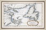 Carte du Golphe de St. Laurent et Pays Voisins Pour Servir a l'Histoire Generale des Voyages
