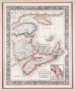 County Map of Nova Scotia New Brunswick Cape Breton Id. and Pr. Edward's Id.