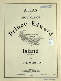Atlas of Province of Prince Edward Island, Canada and the World